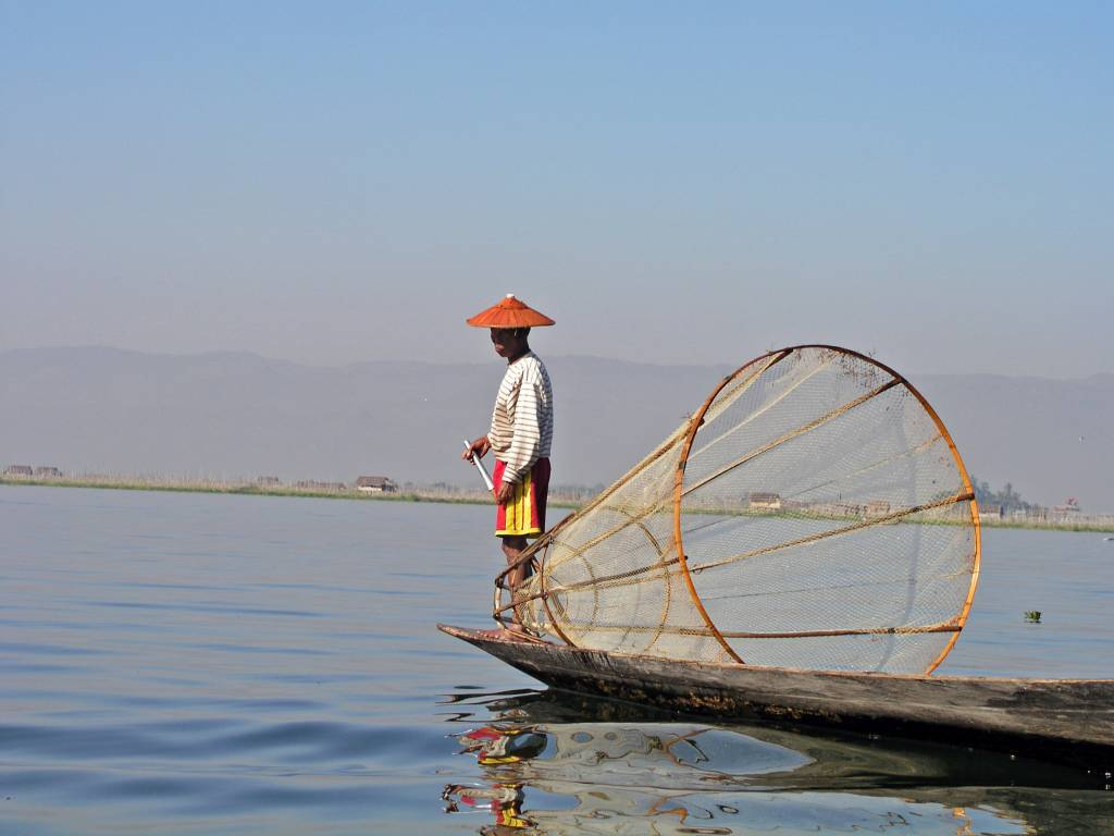 Taunggyi, Inle See, Fischer