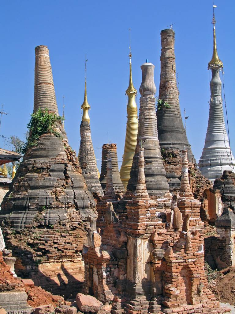 Taunggyi, Indein, Pagodenfelder