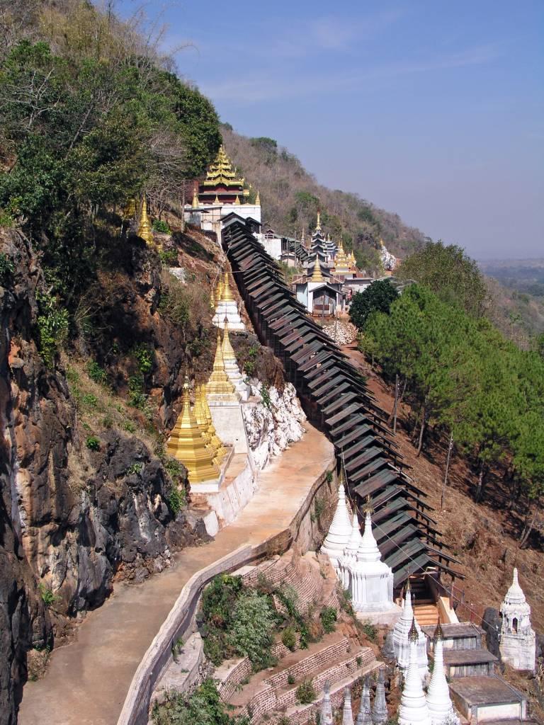 Pindaya, Shwe-U-Min-Pagode mit Pindaya Höhle