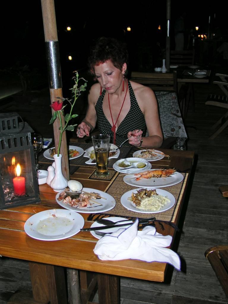 Ngwe Saung, Palm Beach Resort, Abendessen