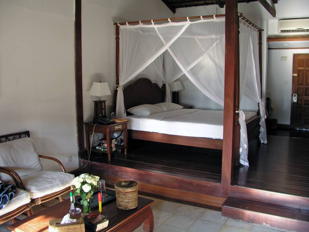 Ngwe Saung, Palm Beach Resort, in unserem Bungalow