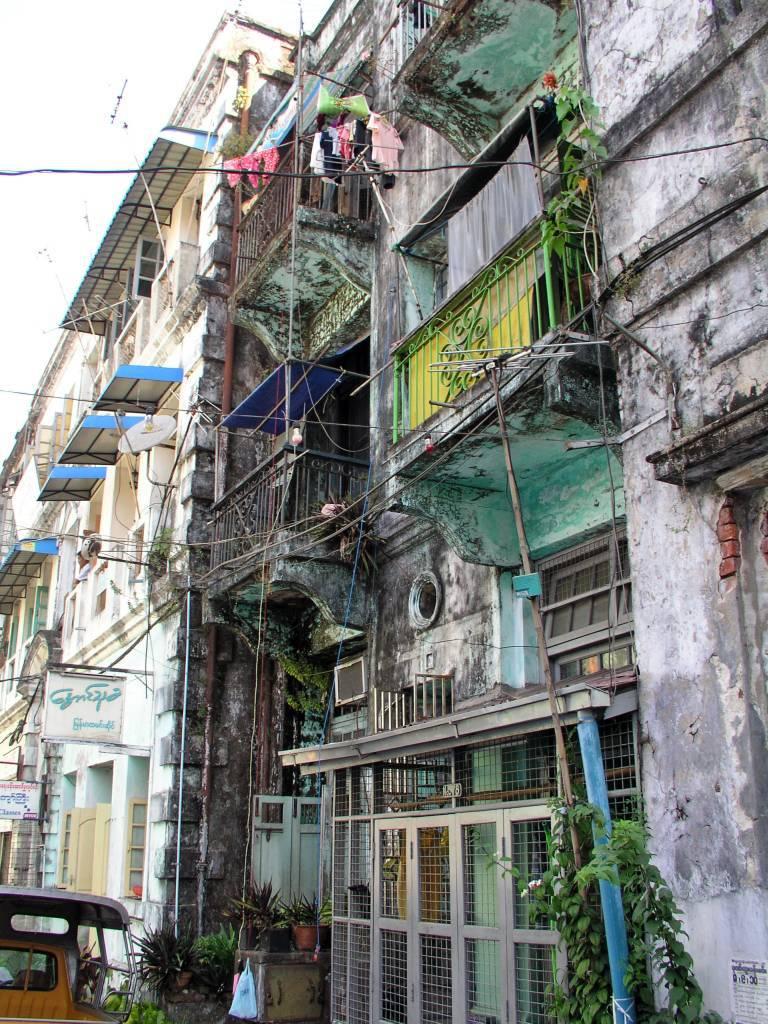 Yangon, alte Gebäude