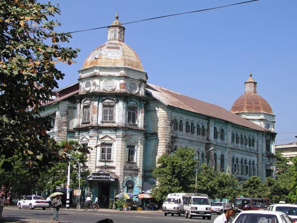 Yangon, altes Kolonialgebäude