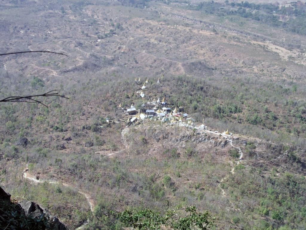 Popaywa, Mount Popa, Aussicht