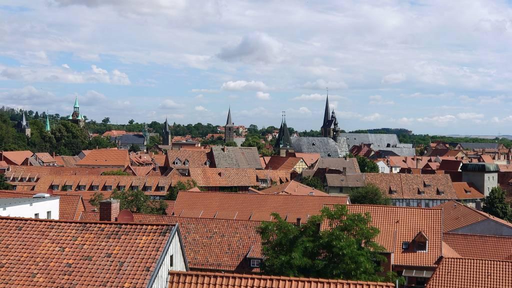Quedlinburg, Altstadt, Blick über die Stadt