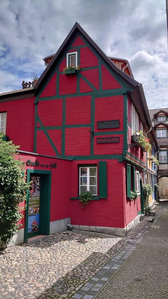 Quedlinburg, Altstadt, Hotel Vorhof zur Hölle