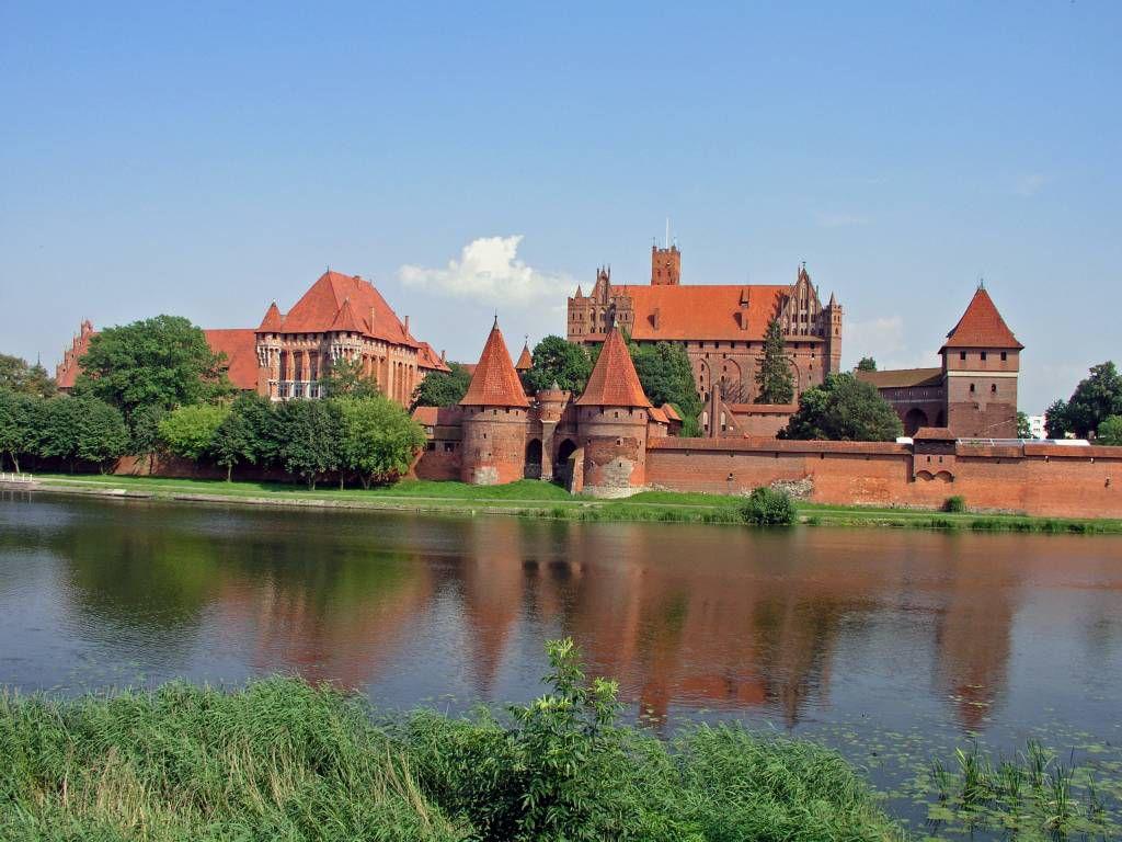 Marienburg, Malborg, Ansicht über die Nogat