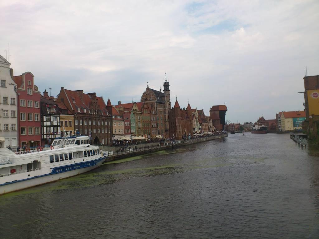 Danzig, Gdańsk, Mottlau mit Krantor