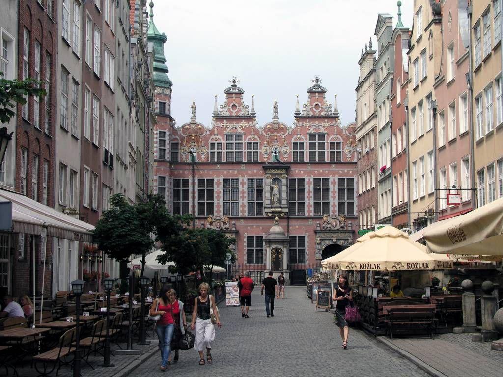 Danzig, Gdańsk, Jopengasse mit großem Zeughaus