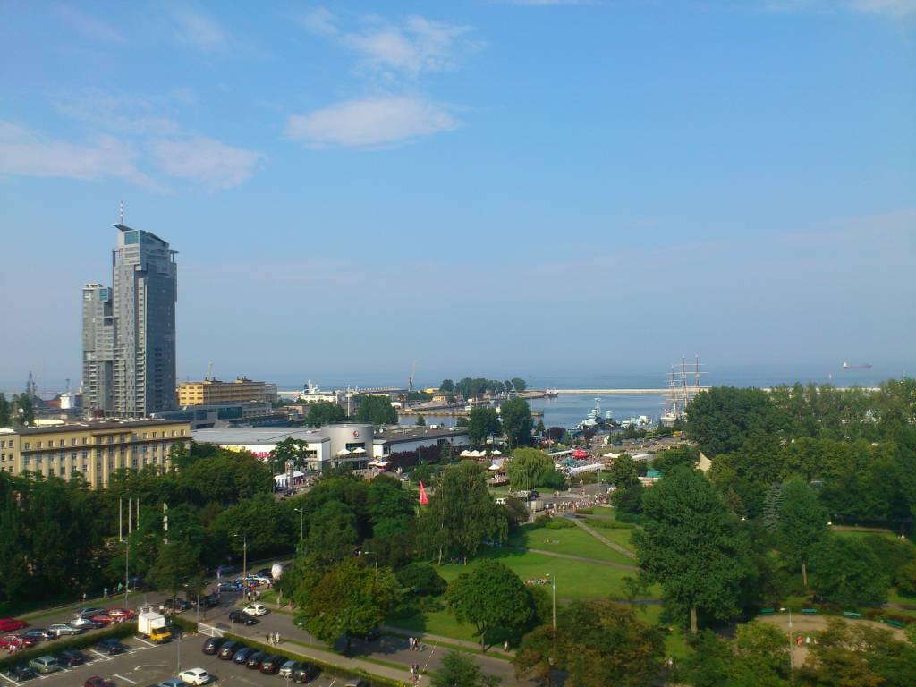 Gdingen, Gdynia, Blick auf den Hafen