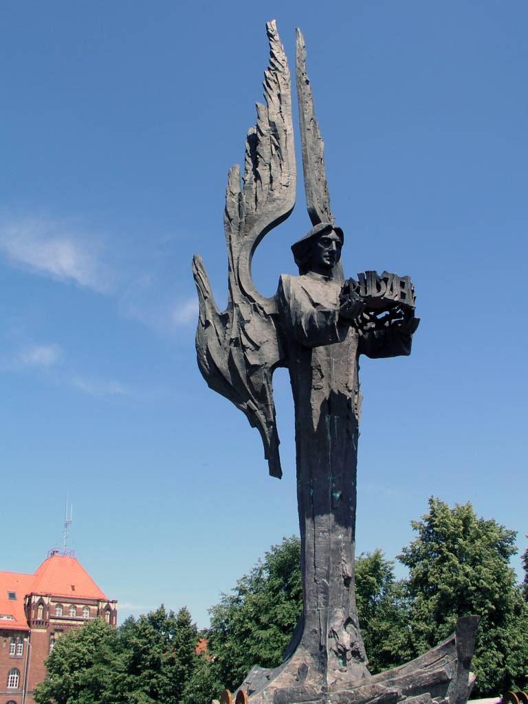 Stettin, Szczecin, Denkmal für die getöteten Werftabeiter
