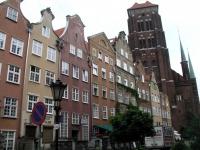 Danzig, Gdańsk, Marienkirche von der Frauengasse aus