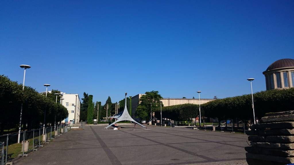 """Breslau, Wrocław, Jahrhunderthalle, Denkmal """"Die Nadel"""""""