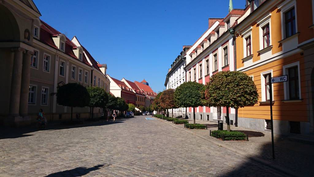 Breslau, Wrocław, Dominsel, Straße vom Kathedralenplatz