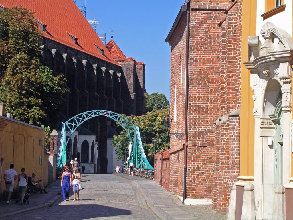 Breslau, Wrocław, Dominsel, Dombrücke