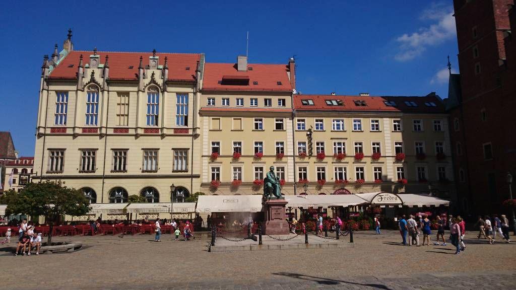"""Breslau, Wrocław, Marktplatz """"Großer Ring"""", neues Rathaus"""