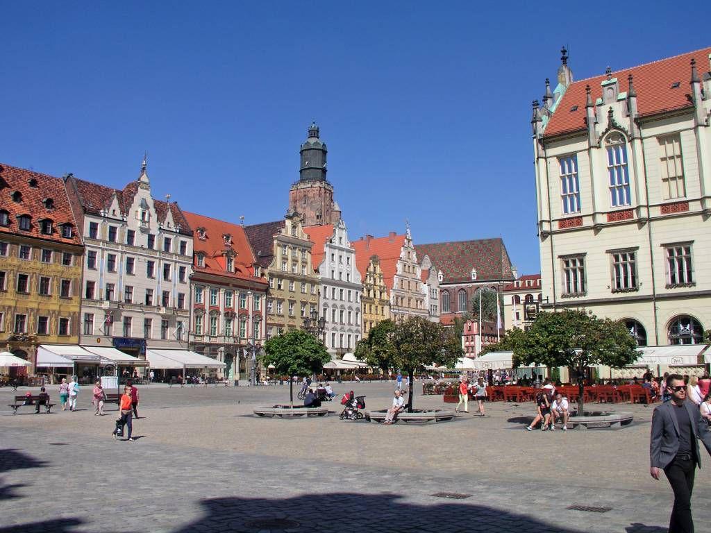 """Breslau, Wrocław, Marktplatz """"Großer Ring"""", Gebäude"""