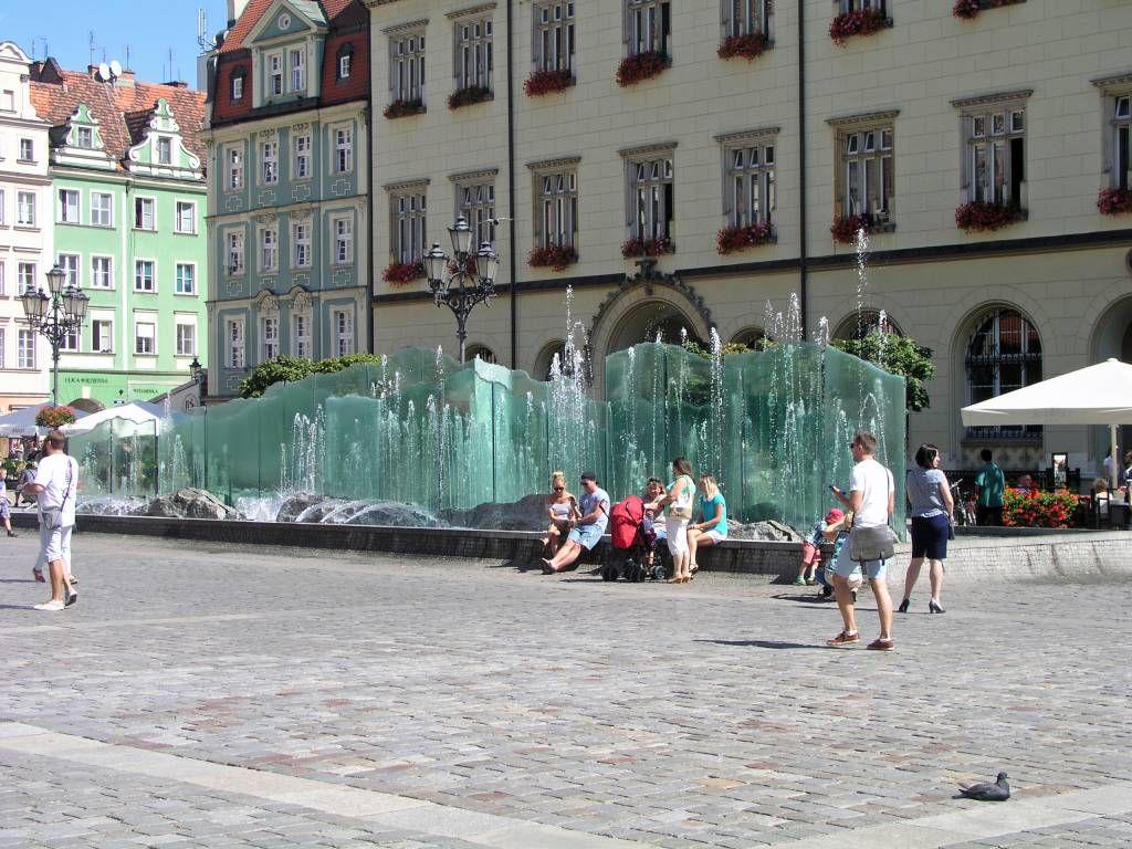 """Breslau, Wrocław, Marktplatz """"Großer Ring"""", Brunnen"""