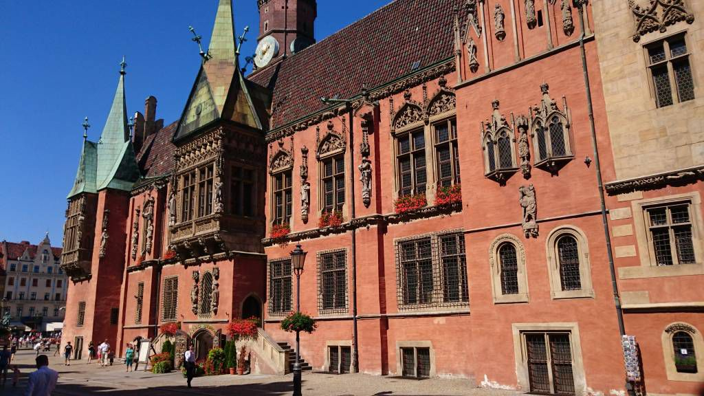 """Breslau, Wrocław, Marktplatz """"Großer Ring"""", altes Rathaus"""