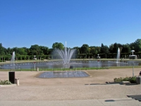 Breslau, Wrocław, Jahrhunderthalle, Fontäne