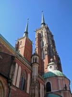 Breslau, Wrocław, Dominsel, St. Johannes Kathedrale, Breslauer Dom und St. Ägidius Kirche