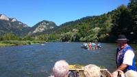 Floßfahrt auf dem Dunajec Fluss von Sromowce Wyżne -  Kąty bis Szczawnica Pieniny