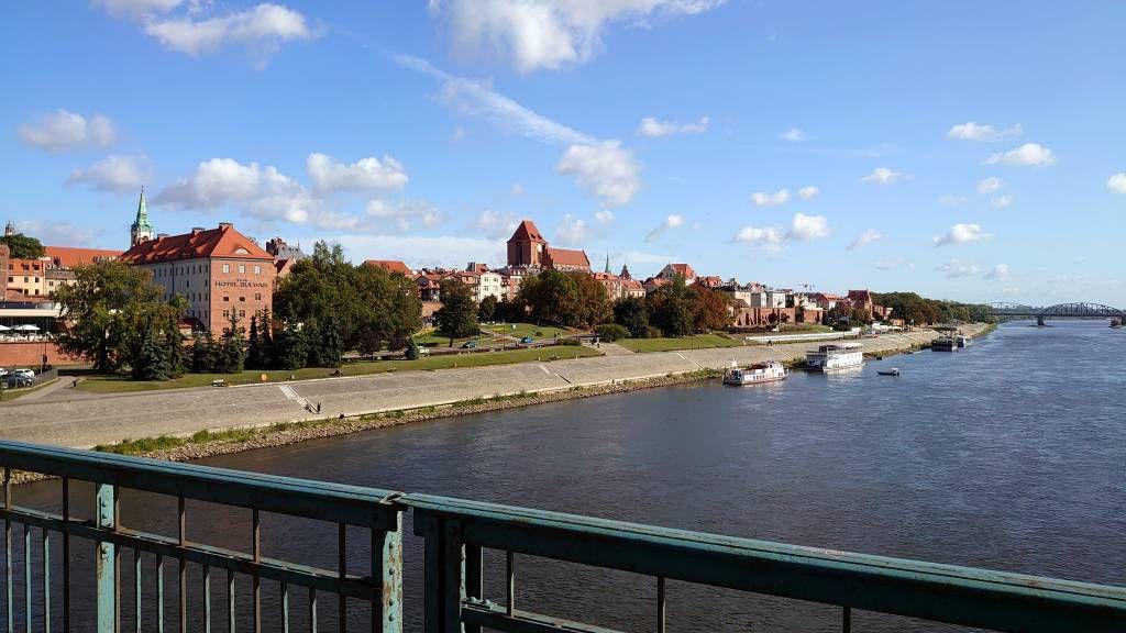 Toruń, Blick von der Weichselbrücke auf die Stadt