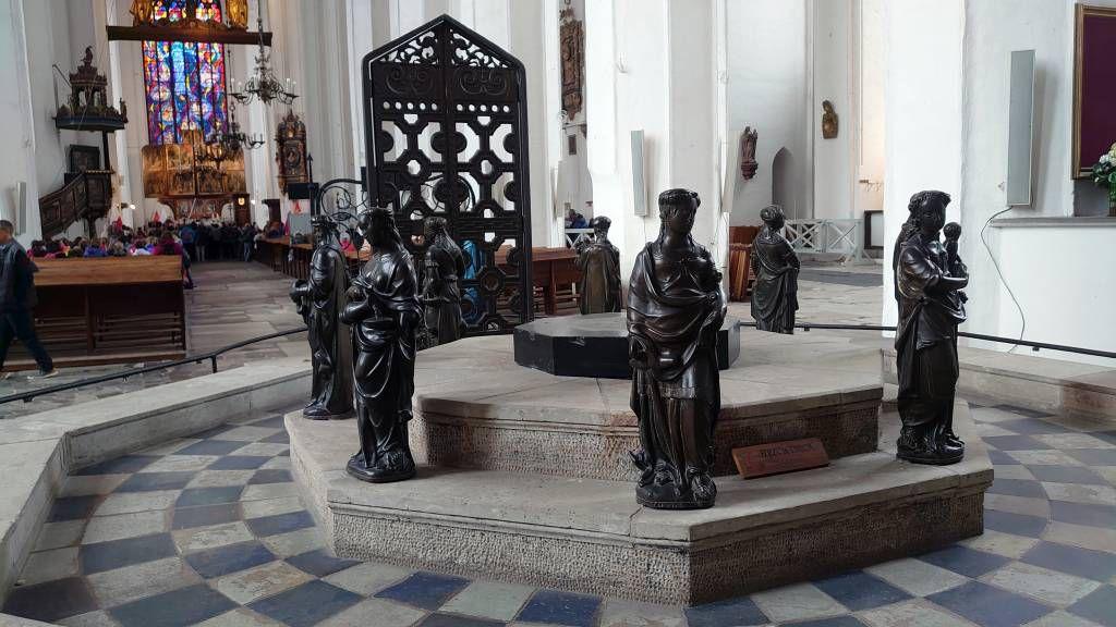 Gdańsk, Danzig, Marienkirche, Taufbecken