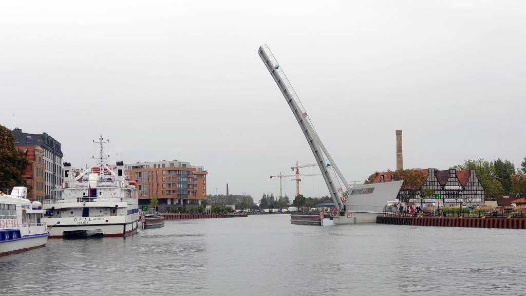 Gdańsk, Danzig, Klappbrücke über die Mottlau