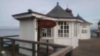 Rügen, Sellin, Seebrücke, Eisverkauf