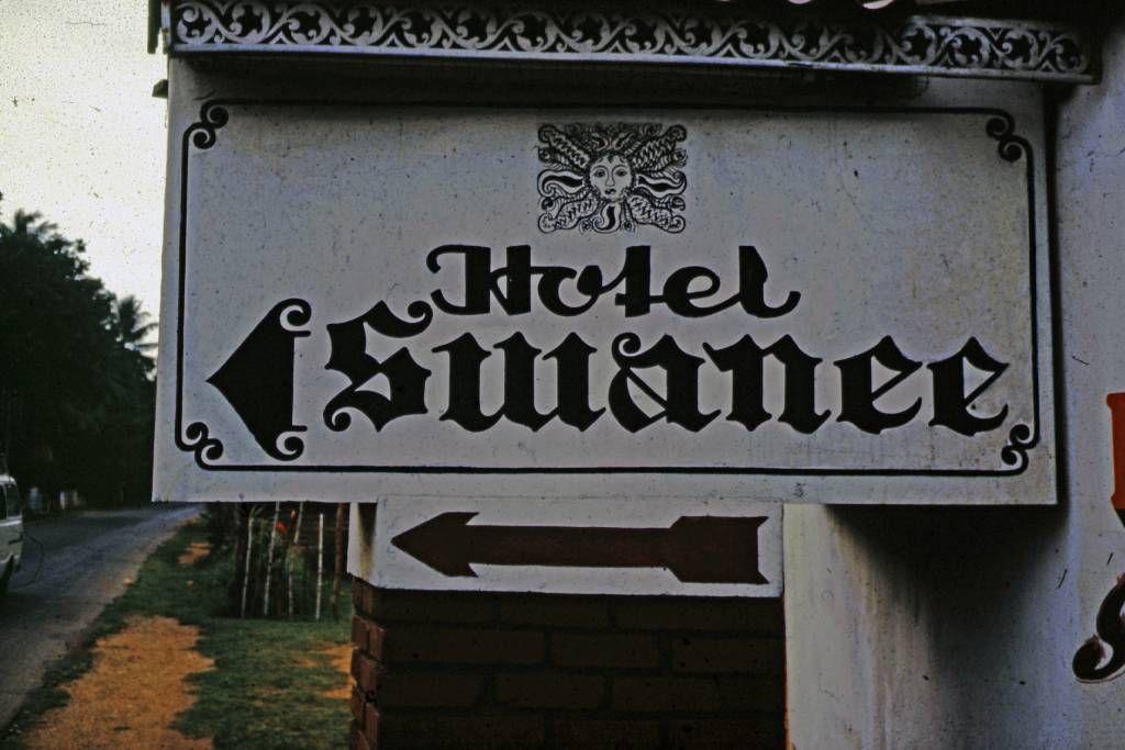 Beruwala, Hotel Swanee, Wegweiser