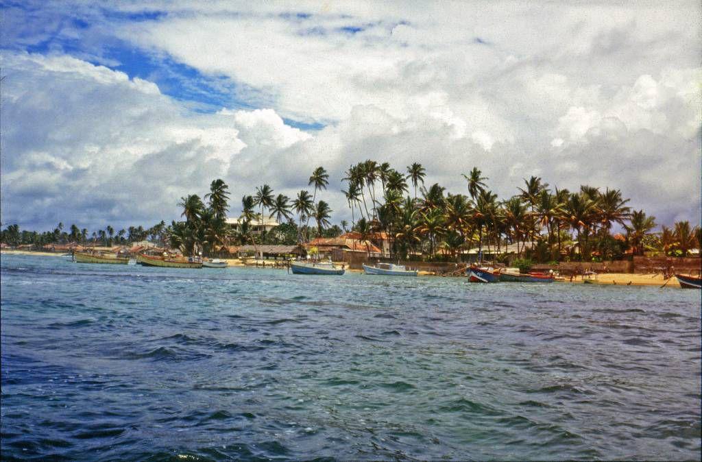 Hikkaduwa, Ortsansicht vom Meer