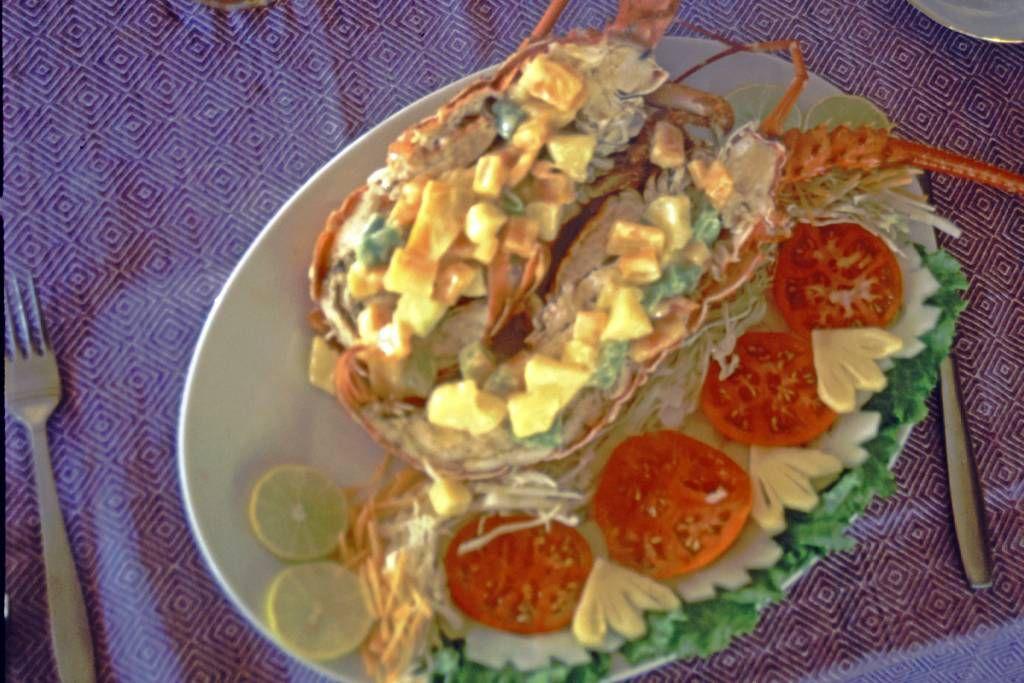 Hikkaduwa, Sunils Beach Hotel, Lobster