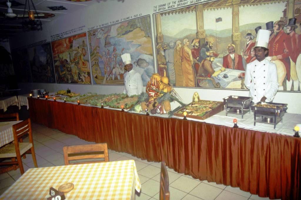 Hikkaduwa, Sunils Beach Hotel, Buffet