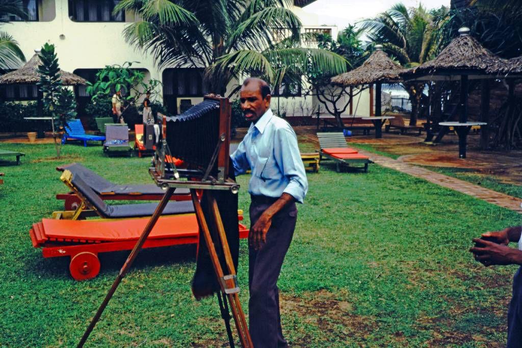 Hikkaduwa, Sunils Beach Hotel, der Fotograf