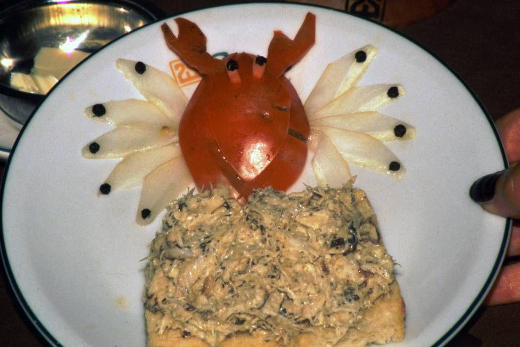 Hikkaduwa, Sunils Beach Hotel, Thunfisch Toast