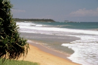 Hikkaduwa, Strand vor dem Sunils Beach Hotel