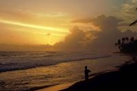 Hikkaduwa, Sonnenuntergang am Strand