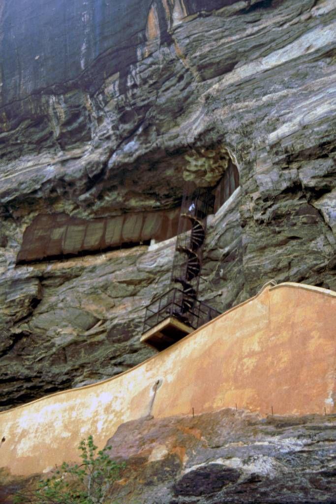Sigiriya, Sigiriyafelsen, Aufgang zu den Wolkenmädchen