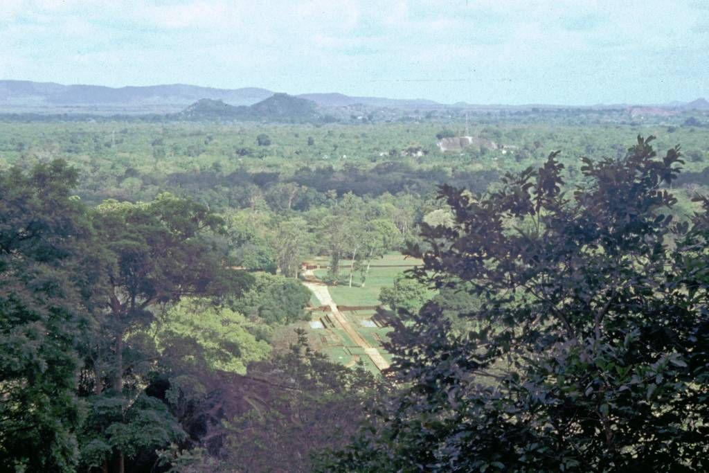 Sigiriya, Blick auf den Palastgarten von Sigiriya