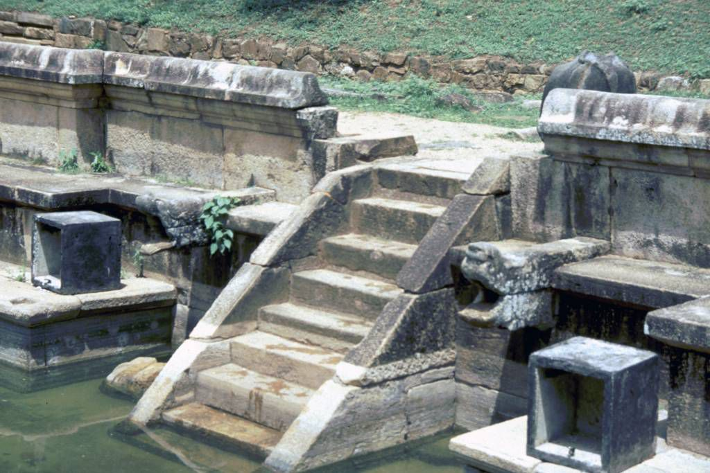 Polonnaruwa, Treppe zum Reinigungsbecken