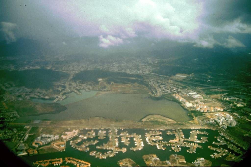 Während des Anfluges auf den Flughafen von Colombo