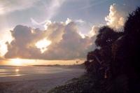 Koggala Beach Hotel, Sonnenuntergang am Strand