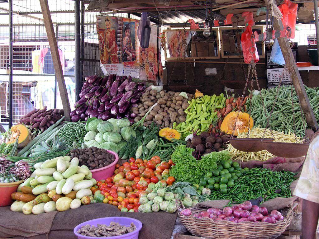 Gemüsestand in Galle