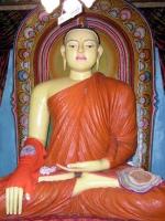 Buddhastatue im Tempel auf der Insel des Koggala Sees