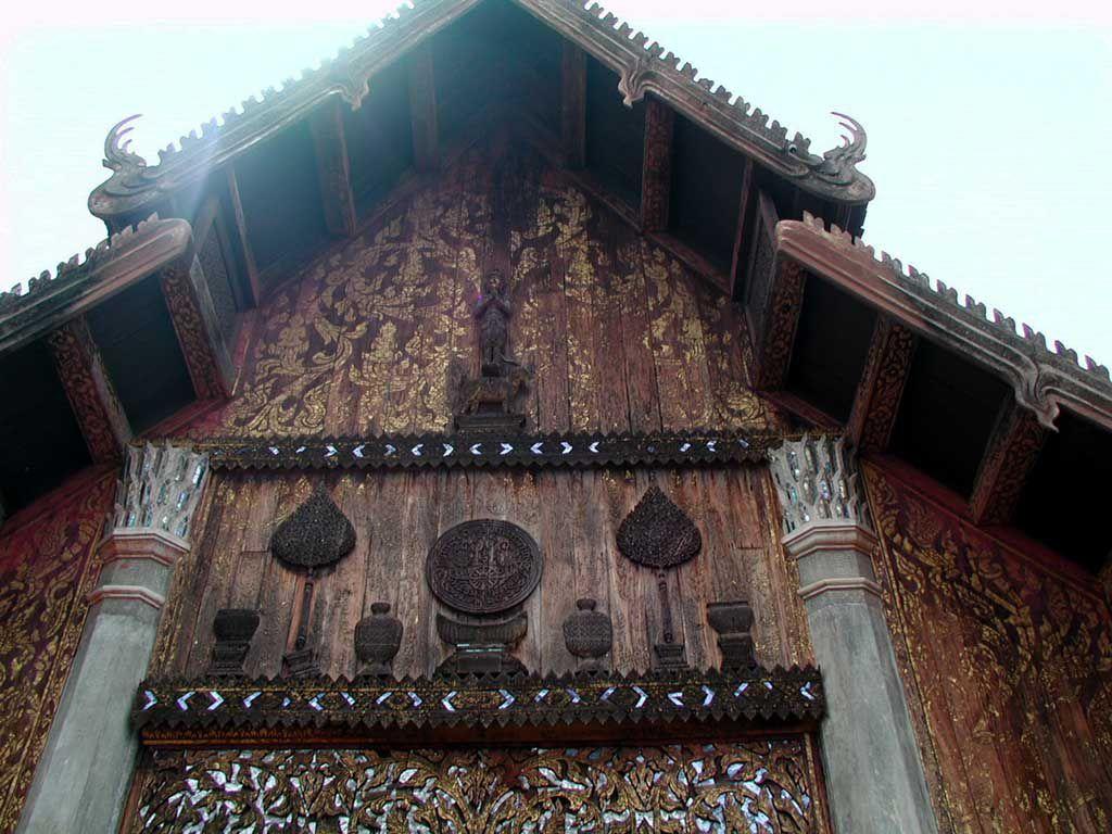 Der vermutlich älteste Holzbau Thailands im Wat Phra That Lampang