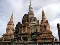 Prangs im Wat Sri Sawai in Sukhothai
