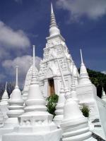 Innerhalb des Wat Pra Buddhabath in Saraburi