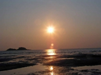 Sonnenuntergang vor dem Tropicana Resort