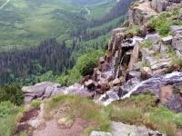 Spindlermühle, Weg von der Elbquelle ins Tal